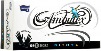 ambulex-nitryl-black-s-powder-free - gumikesztyű - matopat